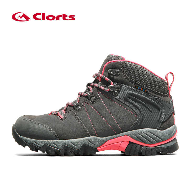 Clorts frauen Winter Sneakers Echtes Leder Sneakers Wasserdichte Taktische Militärische Stiefel Trekking Stiefel für Frauen HKM-822