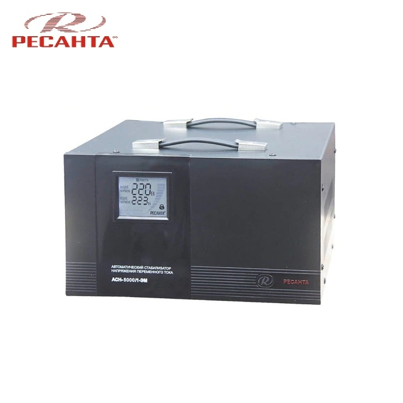 Single phase voltage stabilizer RESANTA ASN 5000/1 EM Voltage regulator Monophase Mains stabilizer Surge protect Power stab single phase voltage stabilizer resanta asn 500 1 em voltage regulator monophase mains stabilizer surge protect power stab