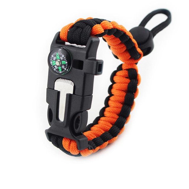 4 in 1 Tactical Survival Starter Whistle Compass Scraper Knife