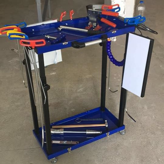 Pdr Portable Case Cart Folds Into Suitcase Painless Dent Repair Removal Tools