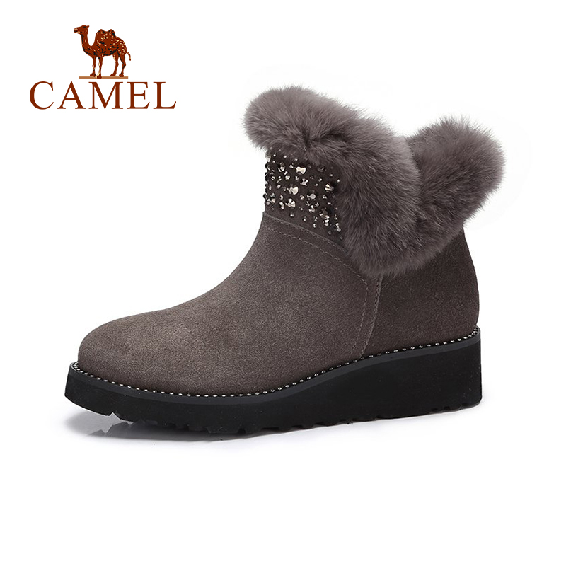 CAMEL 2018 Women Boots Shoes Winter Fashion Platform Snow Boots Shoes Women Solid Keep Warm Furry Shoe For Ladies цена