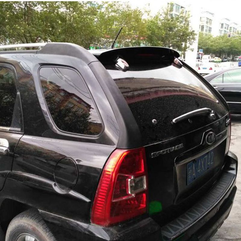 Sportage 2005 2006 2007 2008 2009 2010 ABS Plastic Unpainted Primer Gray Color Rear Roof Spoiler for KIA Sportage lsrtw2017 304 stainless steel car window trims for kia sportage 2004 2005 2006 2007 2008 2009 2010