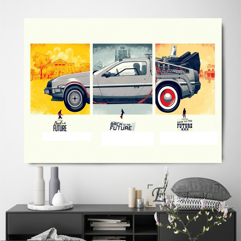 Back To The Future Time Shuttle Delorean Poster Wall Painting Living Room Abstract Canvas Art Pictures For Home Decor No Frame