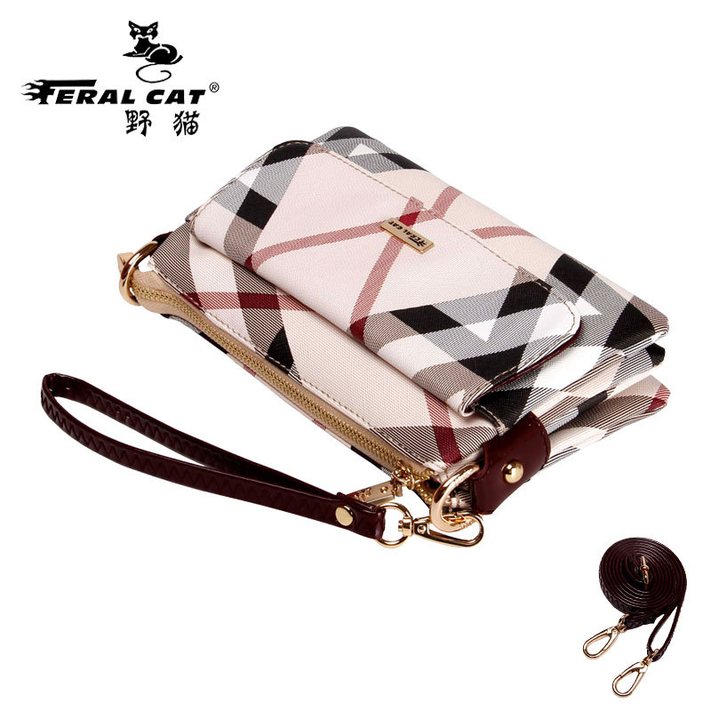 FERAL CAT New fashion Women wallet font b leather b font purse and font b handbags