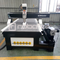 High Speed RTM 1325 1530 Rotary Attachment Cnc Router 4 Axis Cnc Milling Machine