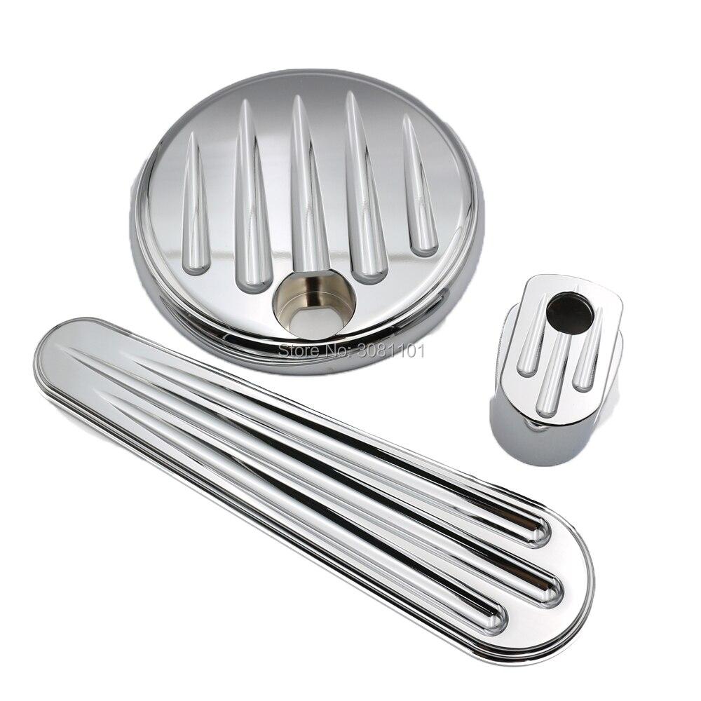 Установить глубокий порез тире топливного бака двери высокого класса качества, прочный хром ЧПУ для Harley Дэвидсон 2014 года-до FLHX эст.