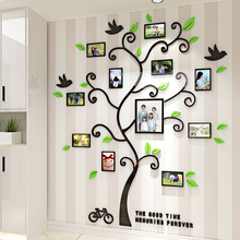 Acrylic Photo Frame wall Family memory Tree Stickers 3d Three-dimensional Wall sticker home decor Living room