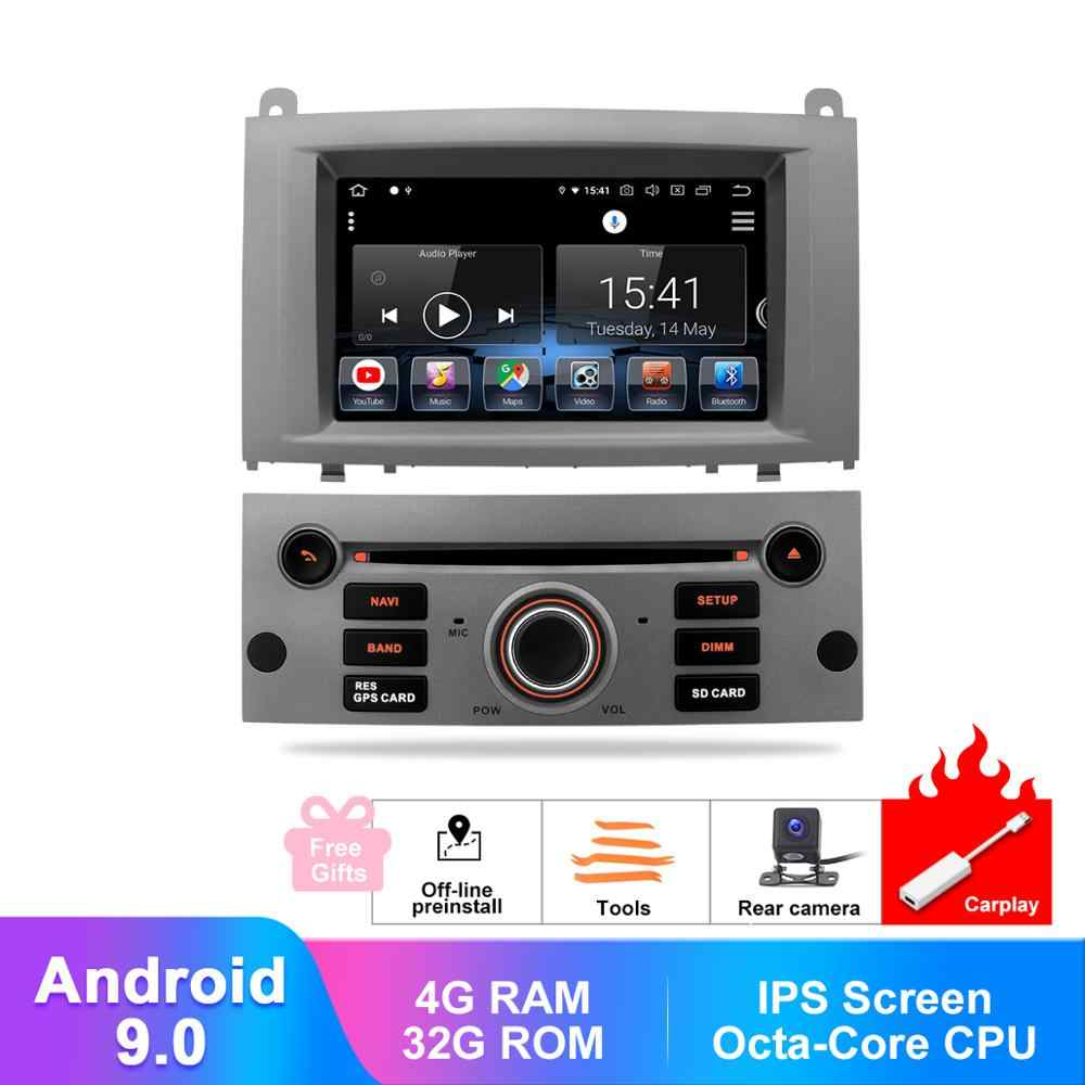"7 ""Android 9 Autoradio Voor Peugeot 407 2004-2010 In Dash Multimedia GPS Navigatie DVD CarPlay Audio Video system Reverse Camera"