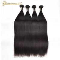 Brazilian Virgin Hair Straight 1/3/4 Bundles 100% Human Hair Extension Silky Straight Hair Weave Bundles Natural Color Hair Weft
