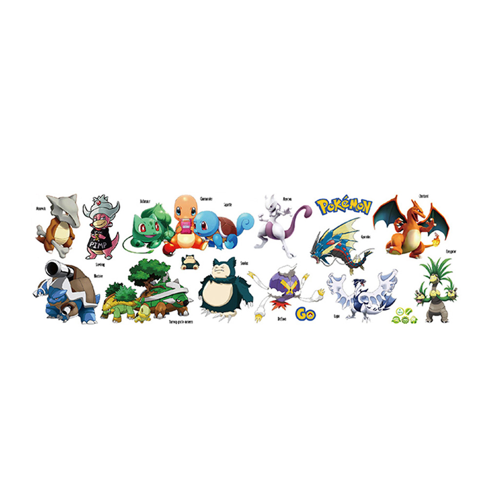 Pokemon Wall Stickers For Kids Rooms Home Decorations Pikachu Wall Decal Amination Poster Wall Art Wallpaper Kids Wholesale