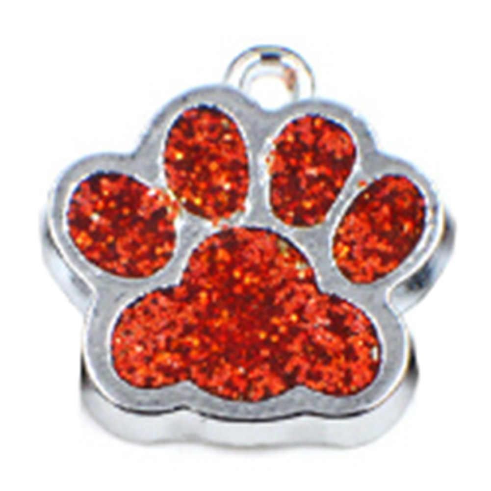 Adorável cristal animal de estimação memorial pingente gato cachorro pata impressão pingente colar strass frete grátis
