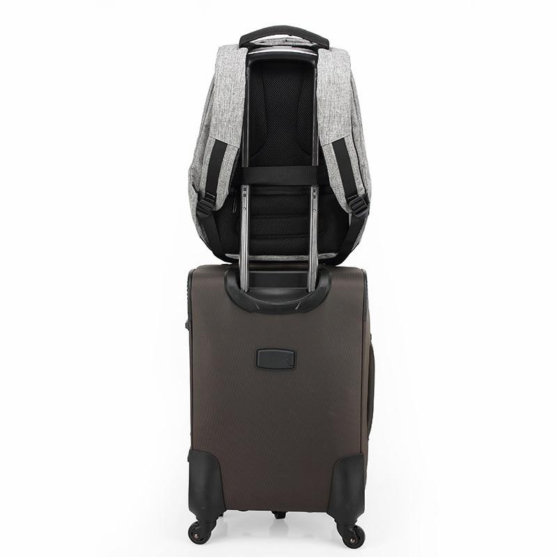 anti roubo mochila urbana usb Técnica : Anti Theft Urban Usb Backpack Male Men Laptop XD Design Bobby Backpack