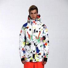 2018 GSOU снег Для мужчин лыжная куртка сноуборд куртка Верхняя спортивная одежда с капюшоном Супер теплая одежда ветрозащитный Водонепроницаемый дышащая новая