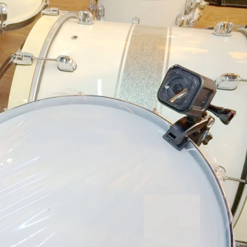 New Adjustable Instrument Music Jam Mount for GoPro Hero 5 3 4 SJCAM Yi 4k h9 Camera Go Pro Guitars Drums Mic Stands Holder