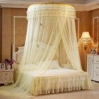 Lüks Romantik Hung Dome Cibinlik Prenses Öğrencileri için Böcek Yatak Canopy Netleştirme Dantel Yuvarlak Sineklik Perde Yatak