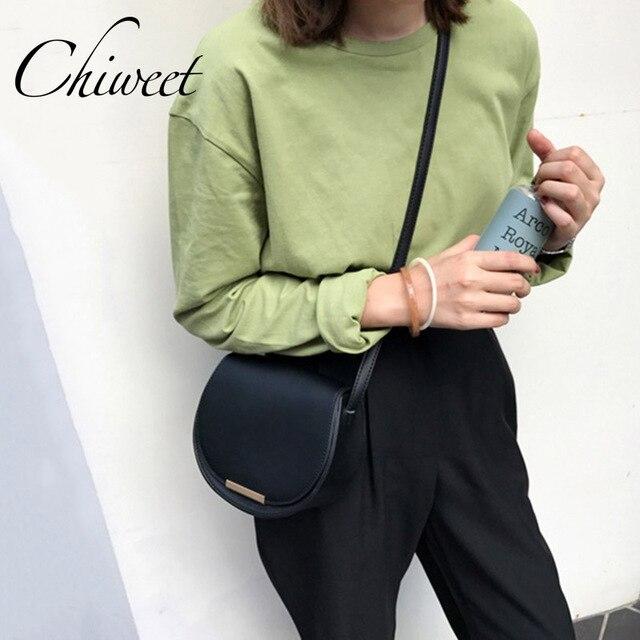 602aa2fcb180 Luxury Handbags Women Messenger Bags Designer Semicircle Saddle Bag Brand  Female PU Leather Shoulder Bag Small Crossbody Bags