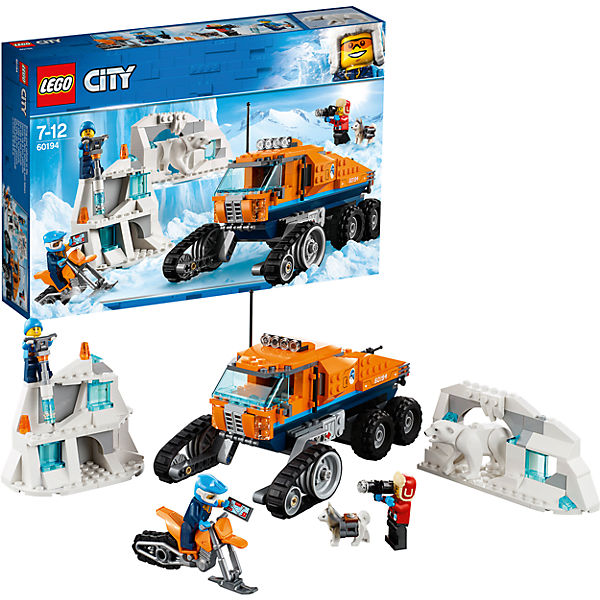 Constructor LEGO City Arctic Expedition 60194 Ice Intelligence Truck Toys Blocks 8005802 874pcs fire station city rescue truck fireman firefighting helicopter technic mini building blocks figures toy for boys children