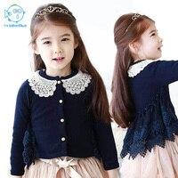 2017New Fashion Girls Spring Autumn Kids Clothing 2 6Y Lace Jacket Coat Cardigan Children Kreaon Style