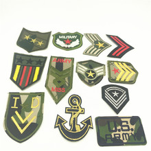 100pcs US American Army Military Patch Sew On Morale Patches Clothes Stickers Applique Badges DIY Embroidery Iron