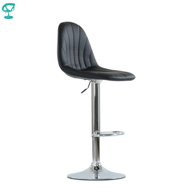 N95CrPuBlack Barneo N-95 PU Leather Kitchen Breakfast Bar Stool Swivel Bar Chair Black Color Free Shipping In Russia