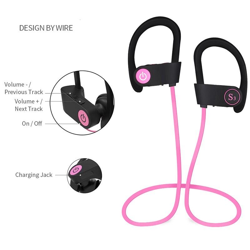 In Ear Bluetooth Wireless Sport Headphones - Noise Cancelling Waterproof Workout Earbuds - Built-in Mic, Stereo Sound Wireless