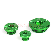 RACING PARTS Green Engine Timing Oil Filter Plug Set Fit KX250F 11-16 KX450F 09-16 KLX450R 08-15 Dirt Bike Motocross Off Road swingarm chain slider with guard guide roller for kxf kx250f kx450f 09 16 dirt bike off road motocross motorcycle free shipping