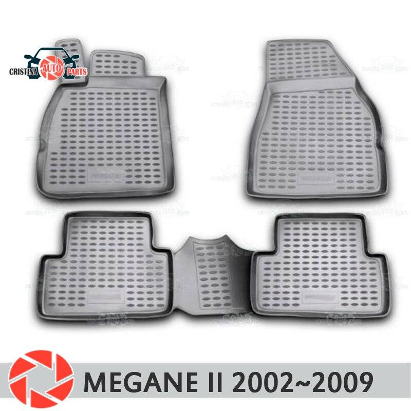 Tapis de sol pour Renault Megane 2 2002 ~ 2009 tapis antidérapant polyuréthane protection contre la saleté accessoires de style de voiture intérieur
