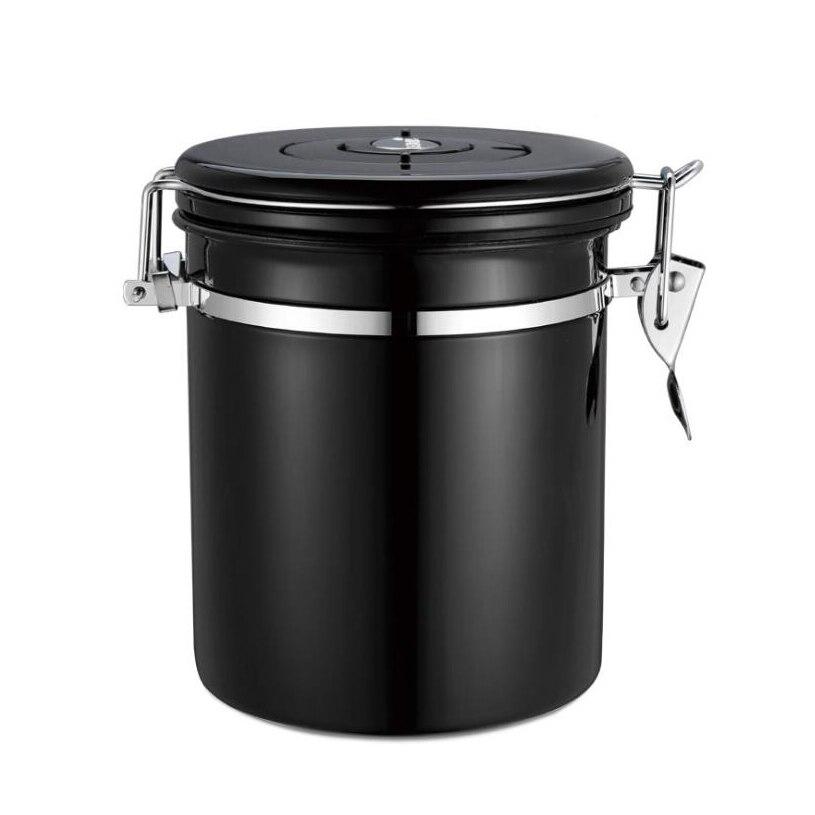 Linha de dióxido de carbono grandes latas de café feijão de café selo pode com válvula de escape de aço inoxidável selo pode folha de chá