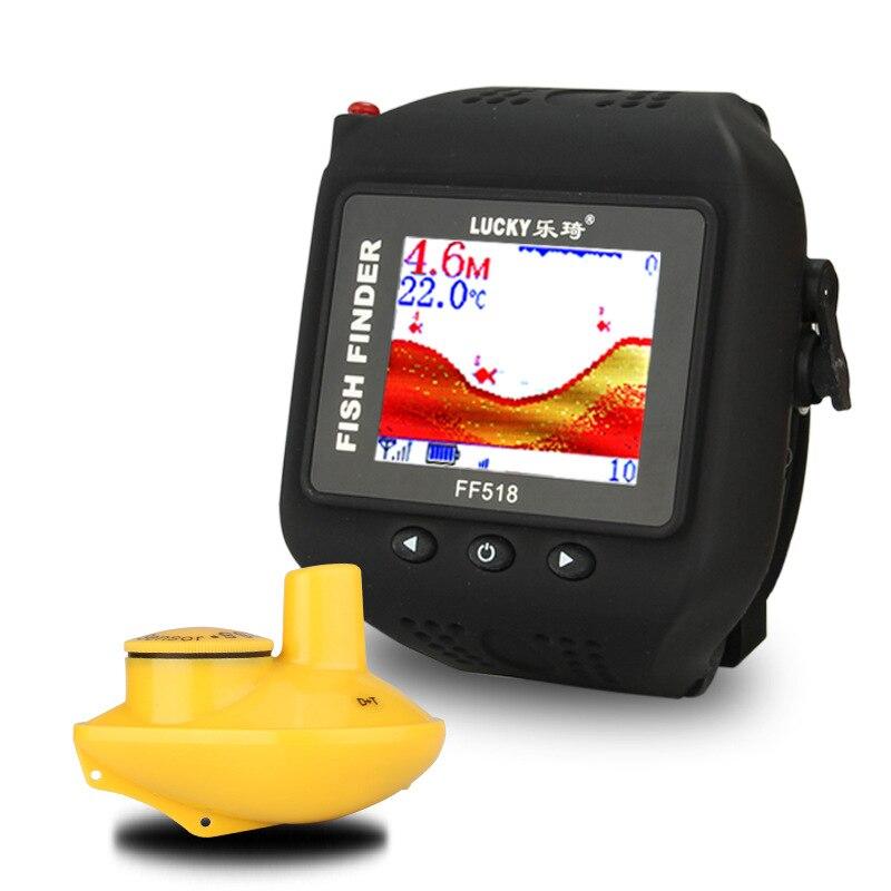 LUCKY FF518 détecteur de montre sans fil Sonar poisson étanche détection 180 pieds 60 M télémètre sondeur Portable écho pêche sondeur