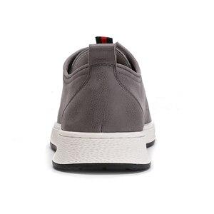 Image 4 - ¡Novedad de primavera! Zapatos para hombre de color CAMEL de cuero genuino a la moda informal para hombre, estilo inglés, piel de vaca con textura salvaje, zapatos de moda joven para hombre
