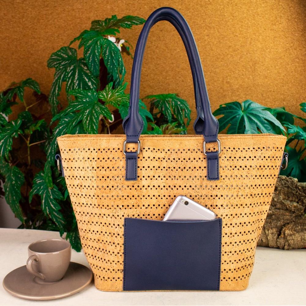 Cork Handbags: Aliexpress.com : Buy Natural Cork With Navy Blue PU