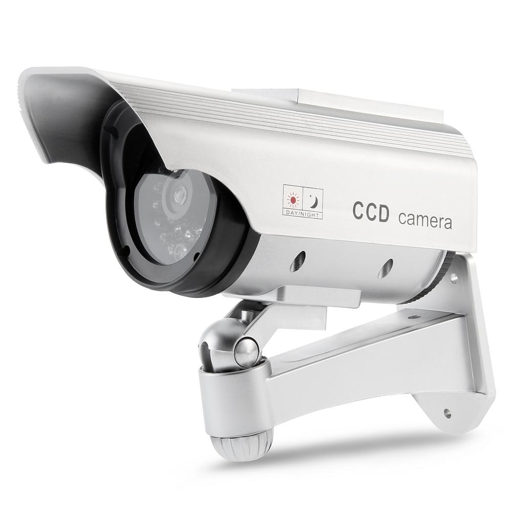 SUNLUXY Camera Solar Battery Powered Flicker Blink Red LED Fake Indoor font b Outdoor b font
