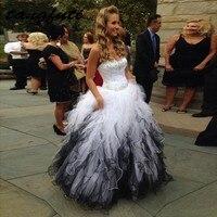 Роскошные платья Quinceanera Сладкие 16 Принцесса Тюль Кристалл бисером бальное платье для выпускного вечера платье для 15 лет Пышное Платье