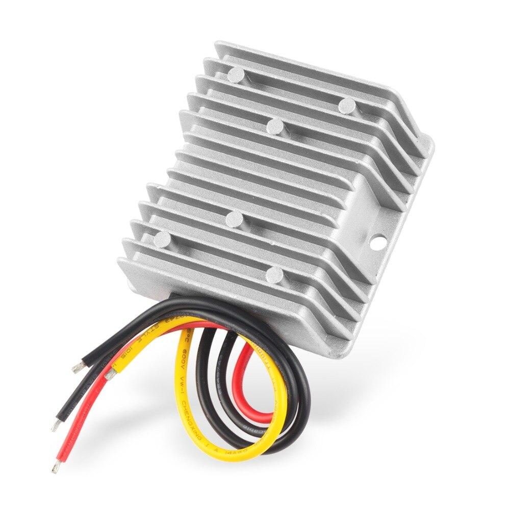Uxcell Power Converter Regulator DC36V(20V~60V) Step-Down to DC12V 15A 180W Waterproof Voltage Convert Transformer Adapters dc dc converter dc12v 10 20v to dc36v 4a 144w