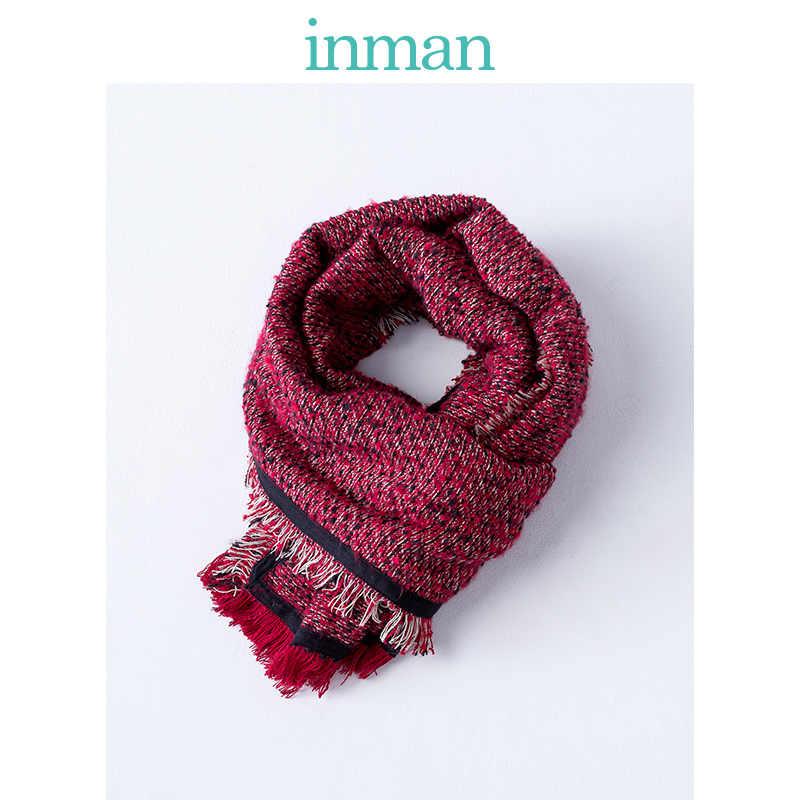 Inman Winter Vrouwen Retro Stijl Alle Matched Contrast Kleur Winter Lente Herfst Warm Houden Ethinic Patchwork Sjaal