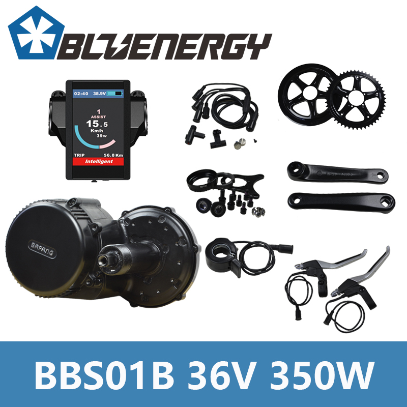 Free Install Tools Bafang BBS01B 36v 350W Mid Crank Drive Motor Kit for Eletric Bike Conversion Kit With C961/C965/850C Display free shipping bafang 8fun genuine ebike 36v 500w bbs02 mid drive motor conversion kit built in controller lcd 850c c965