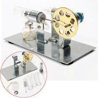 Funny DIY Mini Air Stirling Engine Motor Model Educational Steam Power Toy Electricity Learning Model Toys