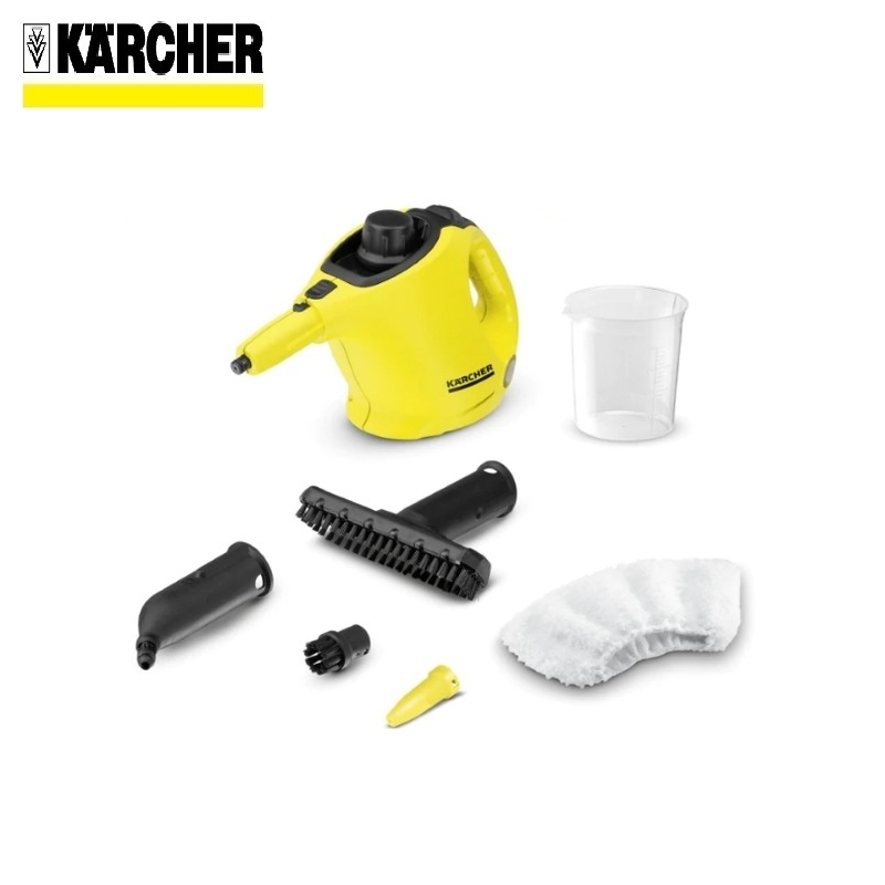 Steam cleaner KARCHER SC 1 (yellow) *EU Steam generator Surface disinfection Indoor air cleaning Window cleaning handheld steam cleaning machine high temperature kitchen cleaner bathroom sterilization washing machine sc 952