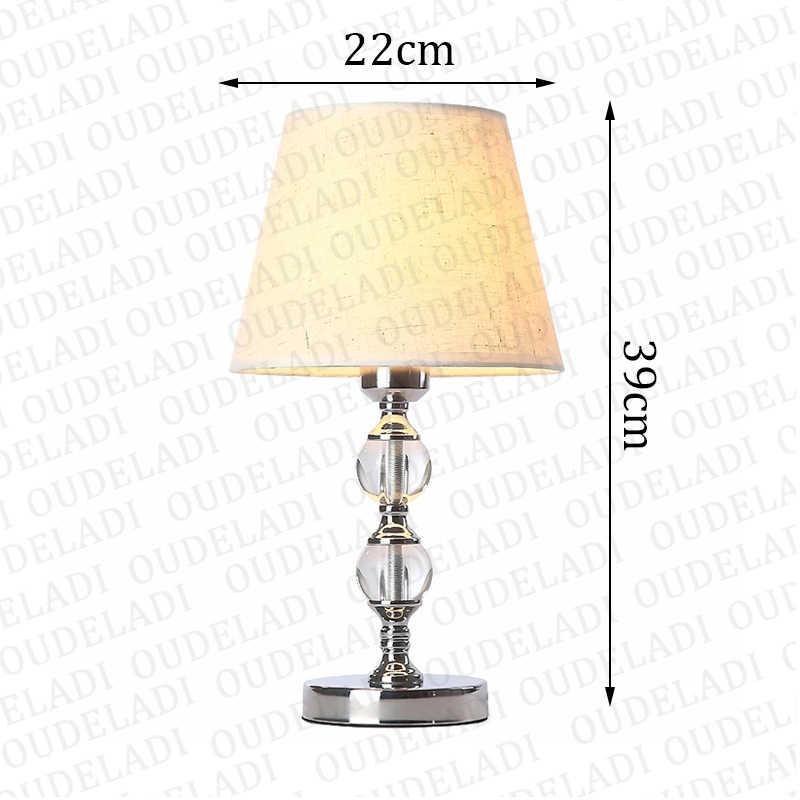 Lámpara de mesa de cristal moderna para sala de estar decoración de dormitorio lámpara de escritorio naranja/Beige/rojo lámpara de mesa pequeña