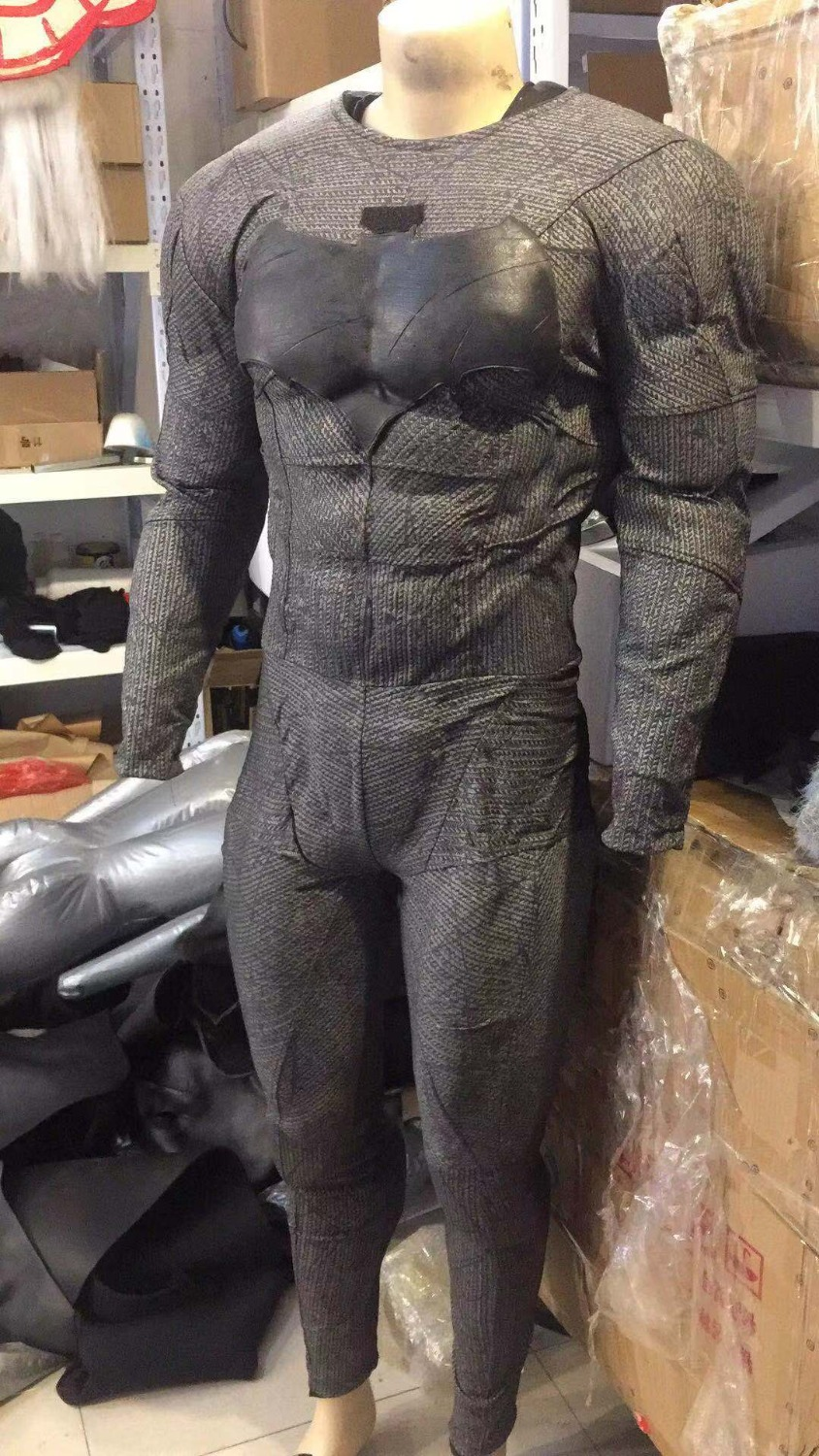 Batman cosplay ONLY COST for GLUING  batman muscle suit and body suit together