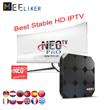 1Year Free IPTV NEOTV PRO A95X R2 2G 16G Android 7 1 Smart TV Box