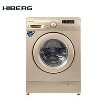 Стиральная машина HIBERG WM2-610 G, золотистая, 12 программ стирки, 6 кг загрузки, 1000 об/мин при отжиме, 48 л воды на цикл, класс А