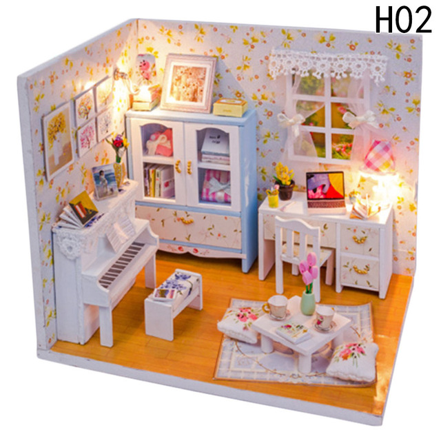 decorating furniture with paper. Baby Room Home Decoration Doll House Model Furniture DIY 3D Puzzle Kit  Wooden Paper Toy Valentine\u0027s Decorating Furniture With Paper L