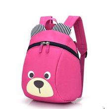 66d73e44e9d2 Nuevo Pequeño Oso lindo de los niños mochila Animal de la historieta  encantadora Mochilas y bolsas para el colegio para Niños Ni.
