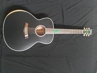 Бесплатная доставка Байрон 8 звуков настроить jumbo Акустическая гитара 43 дюйм(ов) ов) черный цвет матовая отделка гитары