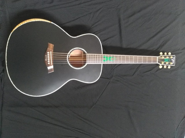 US $279 0 |free shipping Byron 8 sounds customize jumbo acoustic guitar 43  inches black color matt finish guitar -in Guitar from Sports &