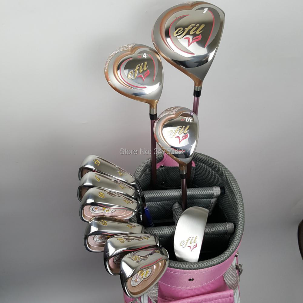 NEW Womens Golf Set EFIL V Set Beginner Full Set Golf Club + Fairway Wood + Hardcore Graphite Golf Club Free shipping владимир степанов владимир степанов стихи для малышей