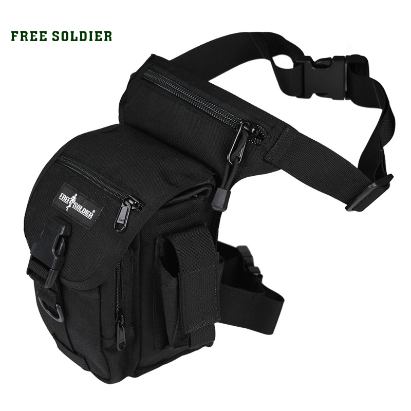 FREE SOLDIER Outdoor Sports 1000D Nylon Tactical Leg Bag Men's Military Waist Pack free soldier eod decorative rubber velcro armband black white