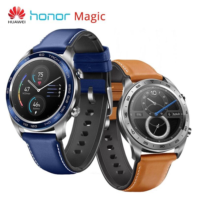 Huawei Honneur Montre Magique 9.8mm Mince GPS montre d'extérieur 1.2 AMOLED écran tactile 5ATM Étanche une semaine Veille Multi-Sport mode