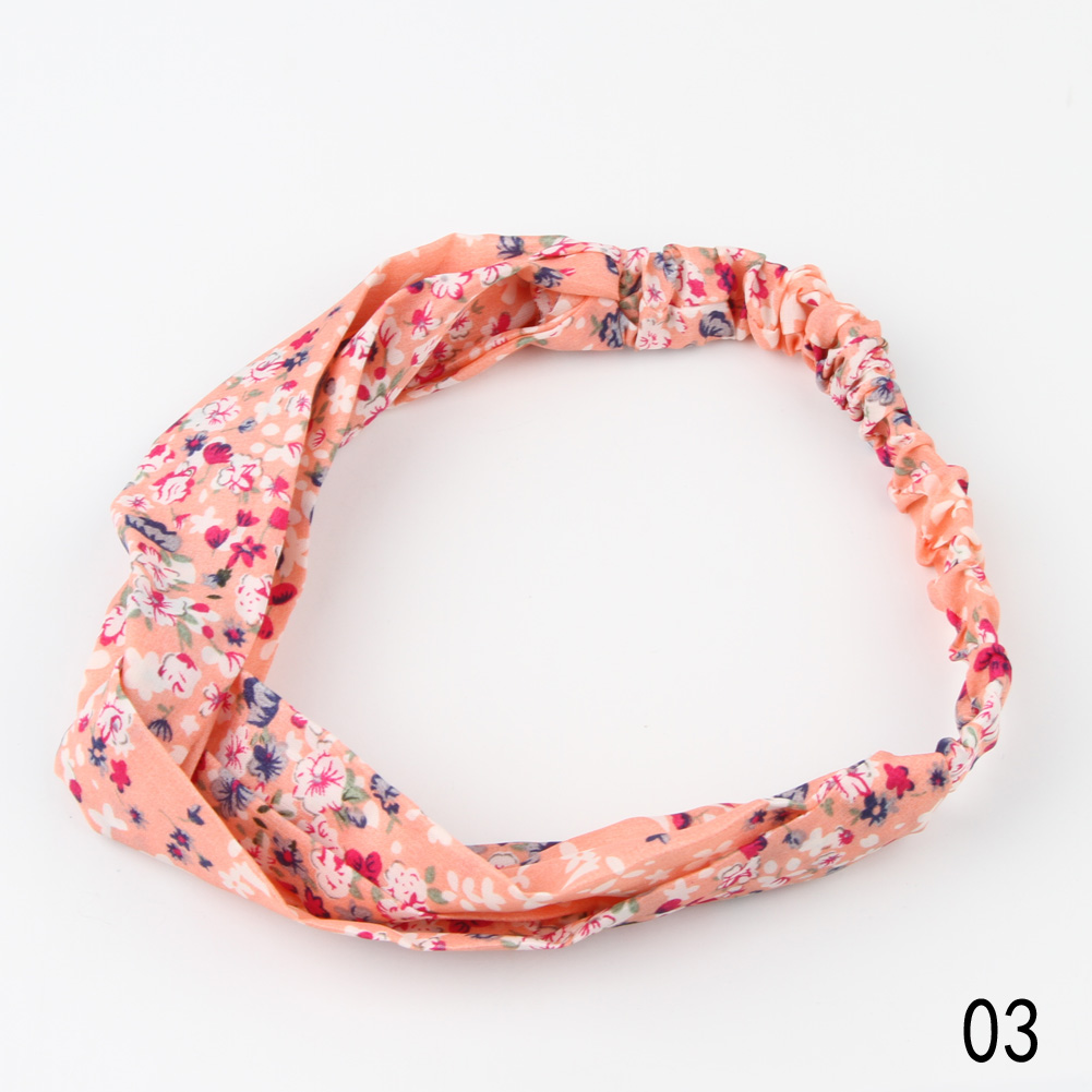 1 Piece Half length 25CM Fashion Women Flower Hair Band Turban Head Wrap Headband Twisted Knotted Yoga Head Wrap